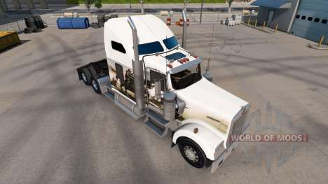 Skin Knights on the truck Kenworth W900 for American Truck Simulator