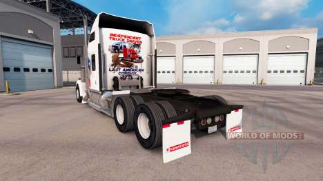 Skin Independent on the truck Kenworth W900 for American Truck Simulator