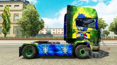 Brasil skin for Scania truck for Euro Truck Simulator 2