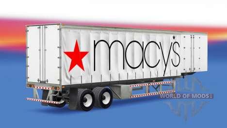 Skin Macys on the trailer for American Truck Simulator
