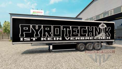 Skin Pyrotechnics on the trailer for Euro Truck Simulator 2