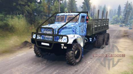 KrAZ-214 for Spin Tires