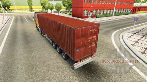 The semitrailer-container truck for Euro Truck Simulator 2