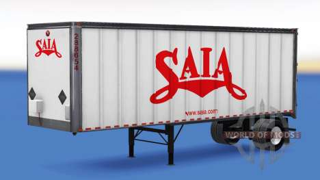 The logos of real companies on the trailers for American Truck Simulator