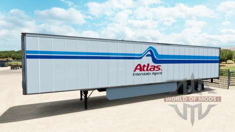 A collection of skins for trailers for American Truck Simulator