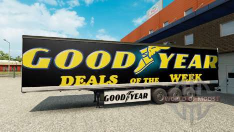 Skin Goodyear on the trailer for Euro Truck Simulator 2