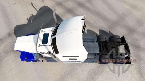 Skin Blue Spike on the truck Kenworth W900 for American Truck Simulator