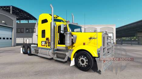 The skin of the Caterpillar tractor Kenworth W90 for American Truck Simulator