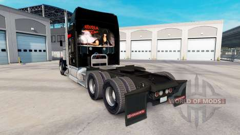 Skin Elvira on the truck Kenworth W900 for American Truck Simulator