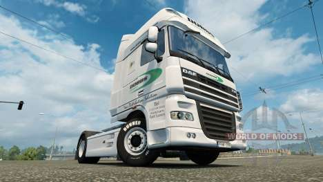Skin on Dobbs Logistics DAF truck for Euro Truck Simulator 2