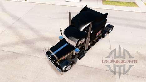 Skin Silver-black for the truck Peterbilt 389 for American Truck Simulator