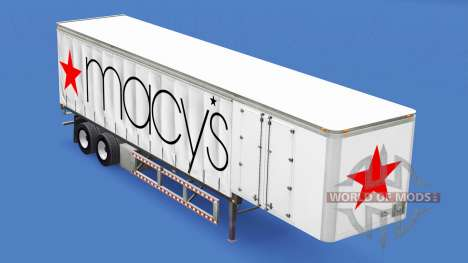 Skin Macys on the trailer for American Truck Simulator