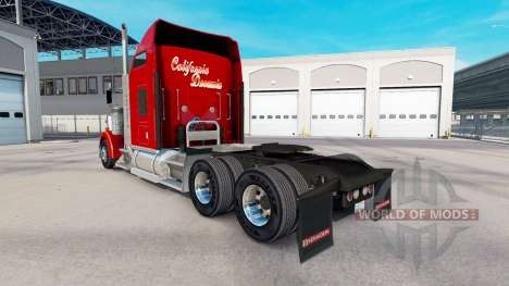 Skin California Dreamin on the truck Kenworth W9 for American Truck Simulator