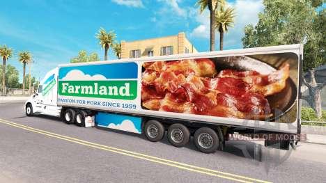 Skin on Farmland tractor Peterbilt for American Truck Simulator