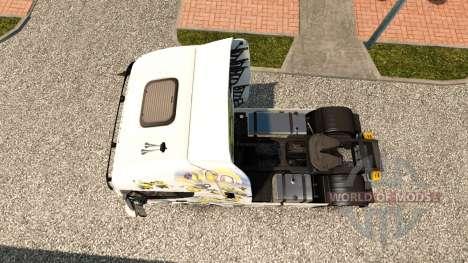 The Minions skin for Iveco tractor unit for Euro Truck Simulator 2