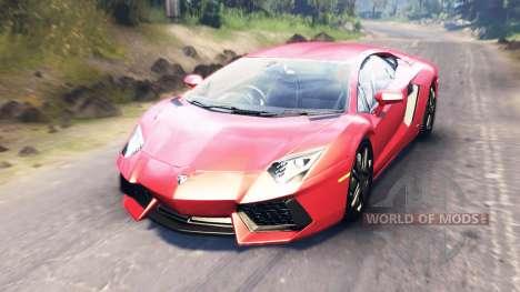 Lamborghini Aventador for Spin Tires