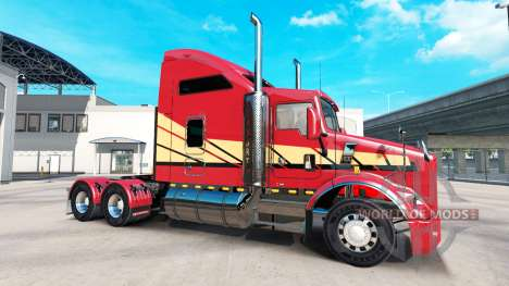 Skin Stripes v2.0 tractor Kenworth T800 for American Truck Simulator