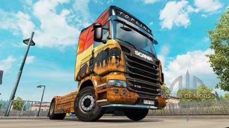 Skin Safari for Scania truck for Euro Truck Simulator 2