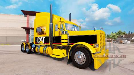 CAT skin for the truck Peterbilt 389 for American Truck Simulator
