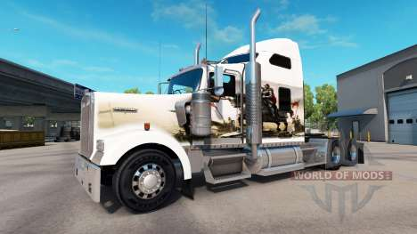 Skin Knights on the truck Kenworth W900 for American Truck Simulator