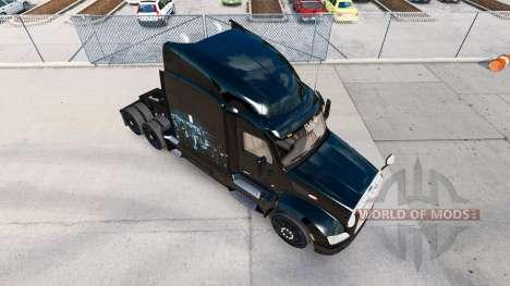 Skin Iron on Skyline truck Peterbilt for American Truck Simulator