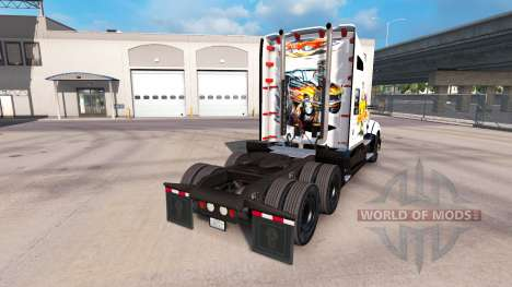 Skin Car art on a Kenworth tractor for American Truck Simulator