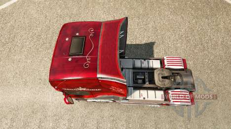 Skin King of the Road on the tractor Scania for Euro Truck Simulator 2