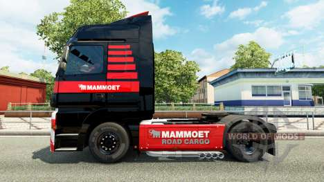 Mammoet skin for the truck Mercedes-Benz for Euro Truck Simulator 2