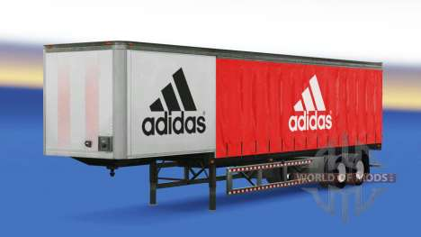 Skin Adidas on the trailer for American Truck Simulator