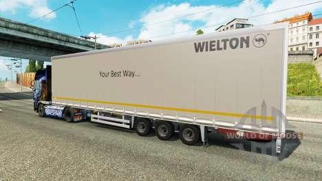Curtain semi-trailer Wielton for Euro Truck Simulator 2