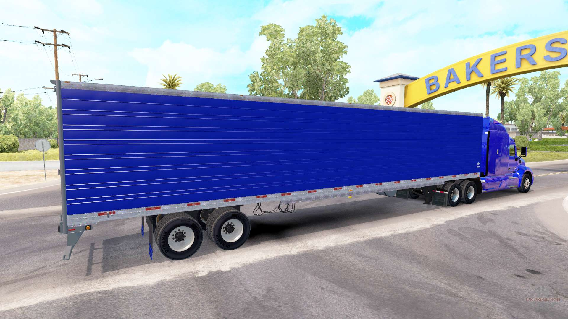 Semi Tractor Trailer : Blue refrigerated semi trailer for american truck simulator