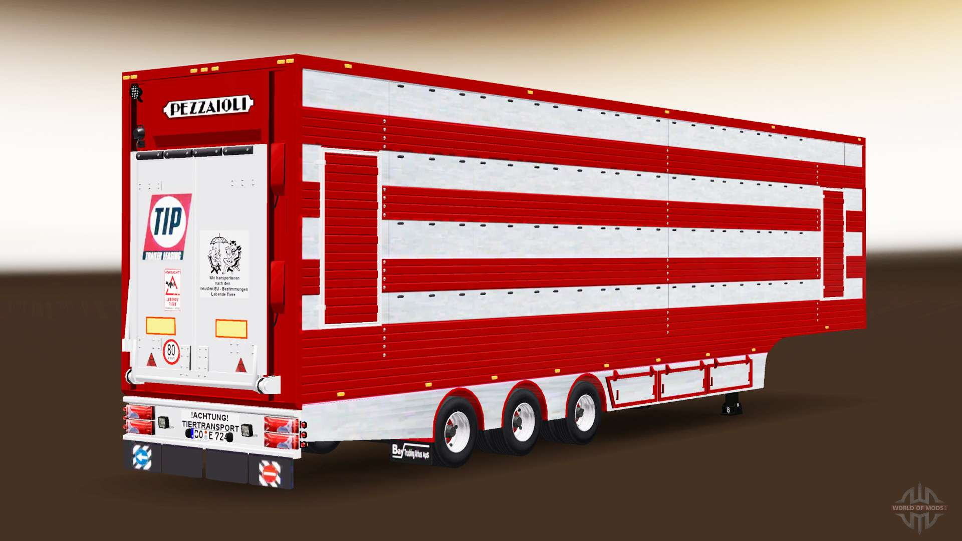 Semi Trailer Cattle Truck For Euro Truck Simulator 2