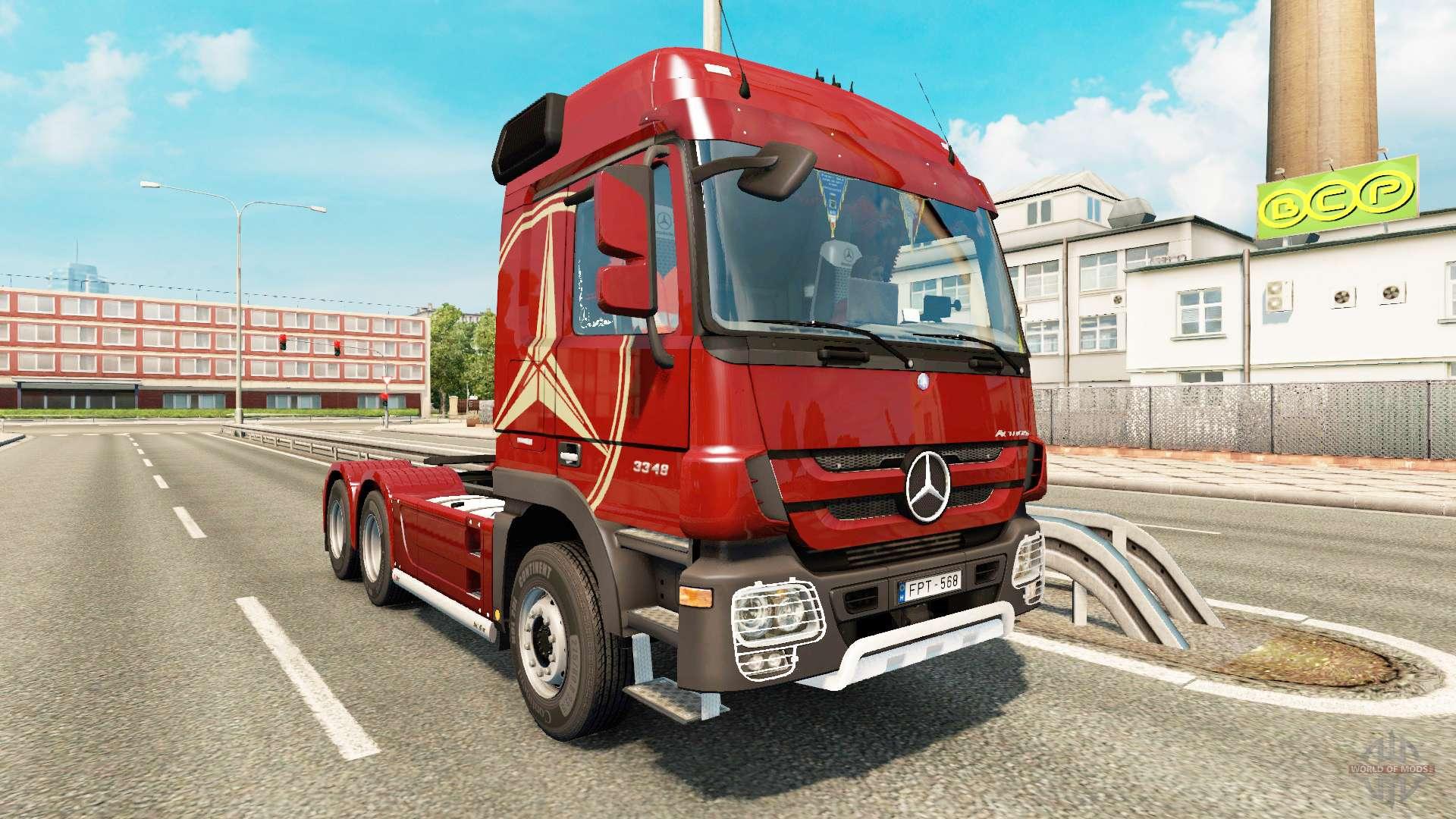 mercedes benz actros mp3 v2 0 for euro truck simulator 2. Black Bedroom Furniture Sets. Home Design Ideas