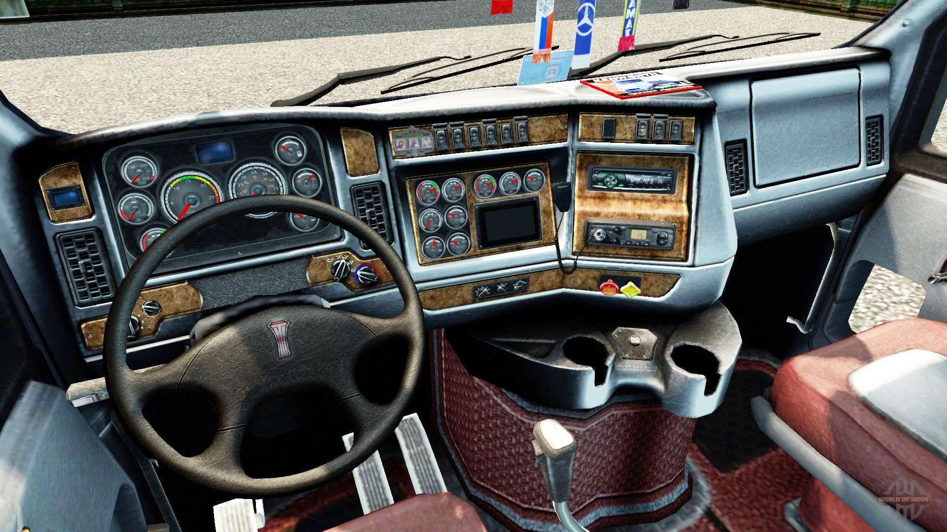 Kenworth t2000 for euro truck simulator 2 for Camion americain interieur cabine