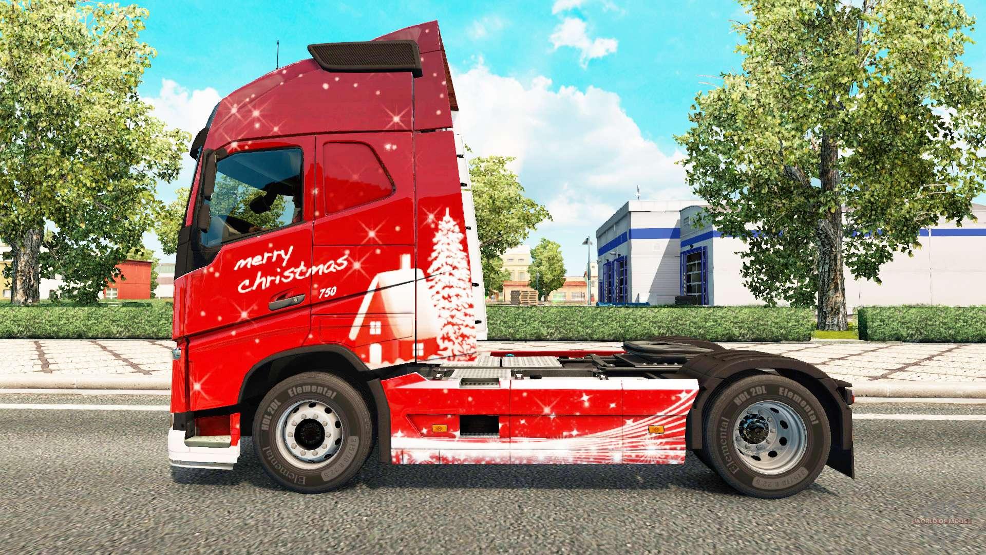 Volvo Skid Steer >> Merry Christmas skin for Volvo truck for Euro Truck Simulator 2
