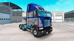 Skin Overnite on truck Freightliner FLB