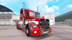 Skin Red-white-tractor Kenworth T800