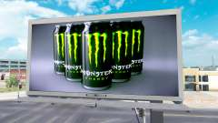 Monster Energy advertising on billboards