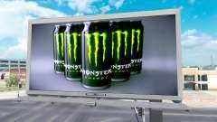 Monster Energy advertising on billboards