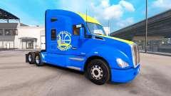 Skin Golden State Warriors on tractor Kenworth