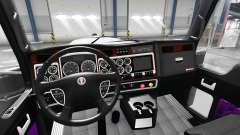 Purple interior Kenworth W900