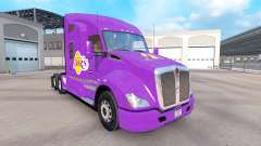 The skin Los Angeles Lakers on tractor Kenworth