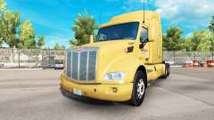 Bison Transport skin for the truck Peterbilt for American Truck Simulator