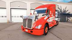 The skin of the Red Stripe on the truck Kenworth
