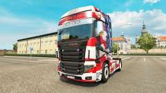 Skin USA on tractor Scania R700