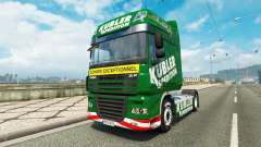 Kubler Spedition skin for DAF truck for Euro Truck Simulator 2