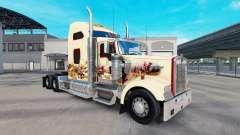 Skin Indian Spirit on the truck Kenworth W900