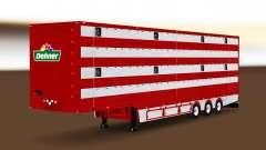 Semi-trailer cattle truck
