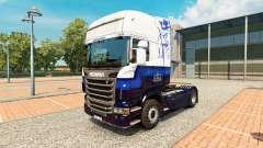 Skin Blue V8 Scania truck