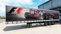 Skin Formula 1 on the semi-trailer